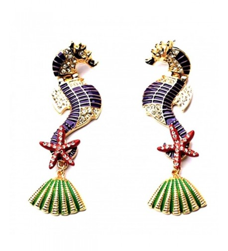 Fabuolus Statement Seahorse Earrings Starfish