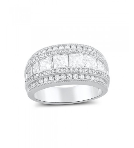 Sterling Silver Wide Square Statement