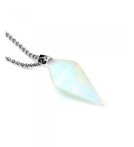 Gemstone Jewelry Hexagonal Pointed Necklace