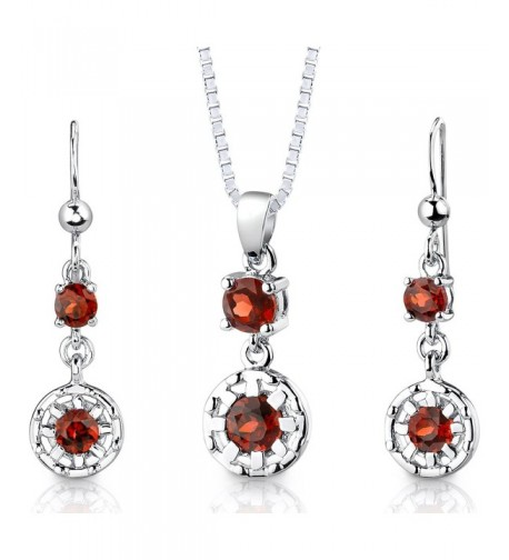Pendant Earrings Necklace Sterling Rhodium