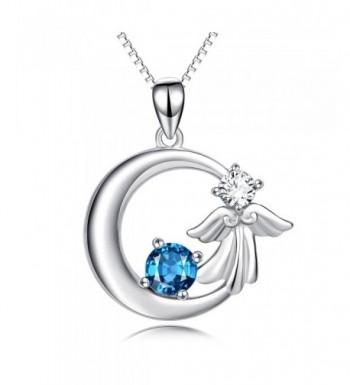 YFN Sterling Crescent Crystal Necklace