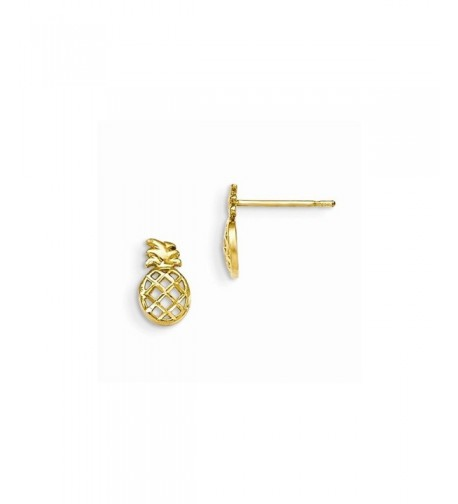 Yellow Gold Childrens Pineapple Earrings