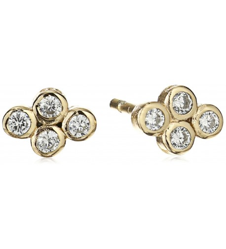 SHASHI Yellow Gold Stud Earrings