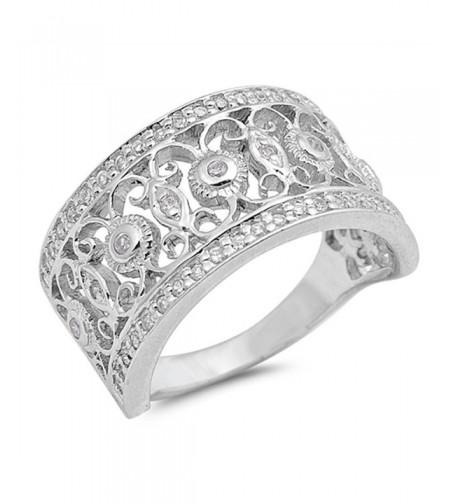 Filigree Fashion Sterling Silver RNG15903 9