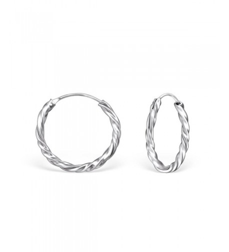 Sterling Silver Twisted Endless Earrings