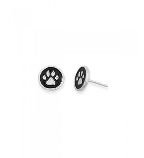 Print Earrings Sterling Silver Diameter
