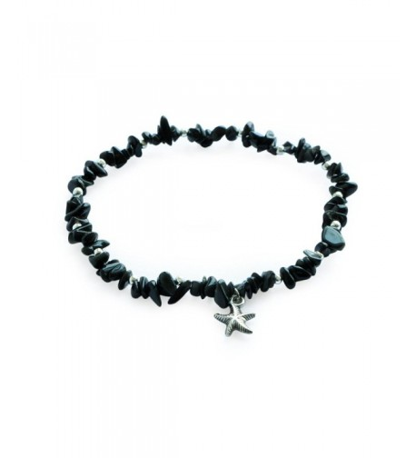 Silver Beaded Starfish Barefoot Bracelet