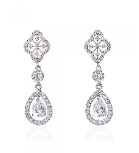 Wordless Love Zirconia Teardrop Earrings