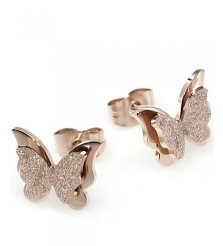 Elove Jewelry Frosted Butterfly Plated