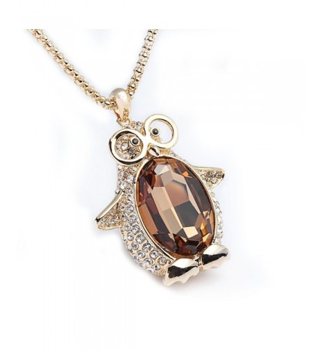 Godyce Penguin Pendant Necklace Plated