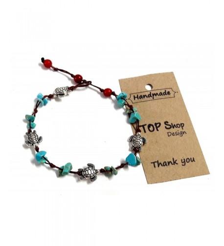 Anklet Bracelet Turtle Turquoise cm Handmade