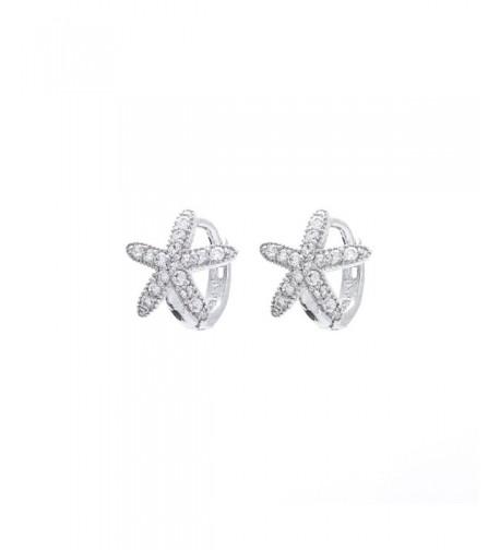 Sterling Silver Petite Starfish Earrings