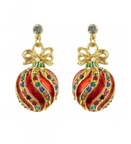 Bejeweled Christmas Ornament Earrings 91