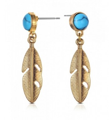 XZP Earrings Metallic Feather Calaite