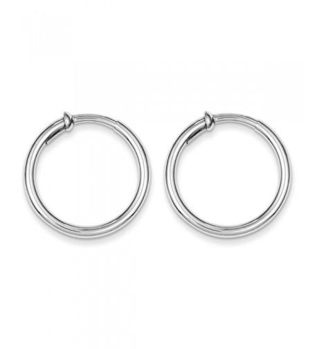 Sterling Silver Polished Pierced Earrings