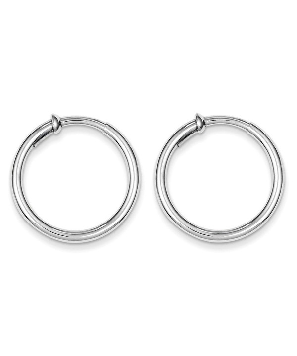 Sterling Silver Polished Pierced Earrings