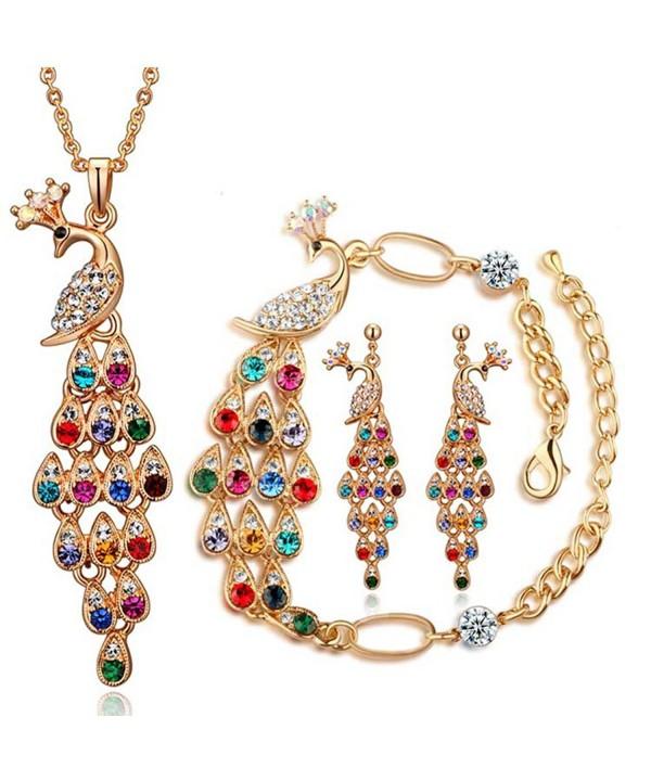 Dlakela Colorful Necklace Earrings Bracelet