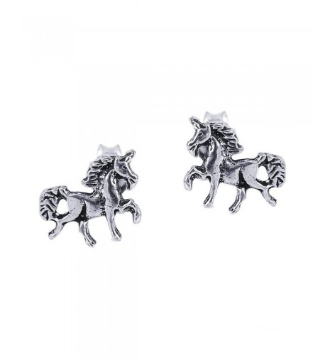 Petite Unicorn Sterling Silver Earrings
