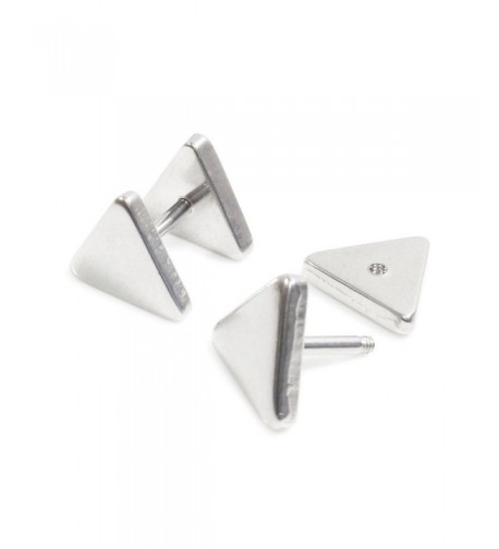 Stainless Steel Plain Triangle Earrings