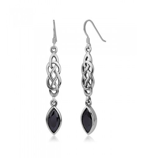 Sterling Silver Zirconia Dangling Earrings