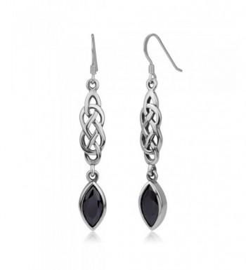Sterling Silver Zirconia Dangling Earrings