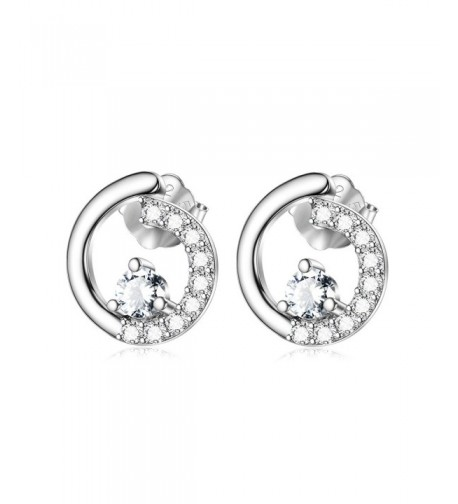 Sterling Silver Circle Earrings Jewelry