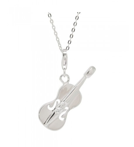 Sterling silver Violin Pendant Necklaces