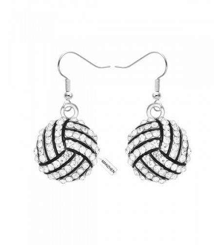 MANZHEN Crystal Volleyball Earrings Fashion