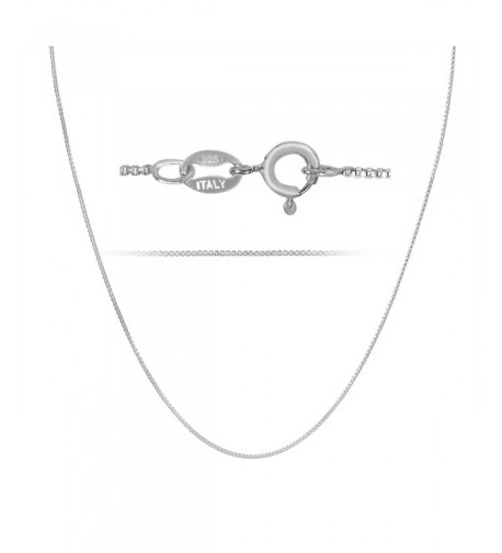 Necklace Sterling Silver Italian Rhodium