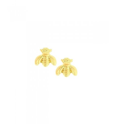 Mini Golden Bee Post Earrings