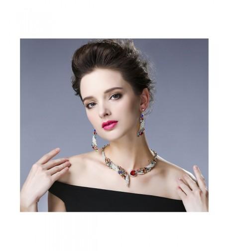 Hamer Crystal Statement Necklace Earrings