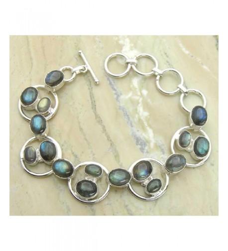 Labradorite Sterling Silver Handmade Bracelet