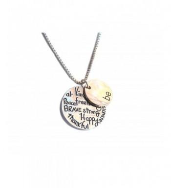 Pendant Necklace Thankful Passionate Shoppingbuyfaith