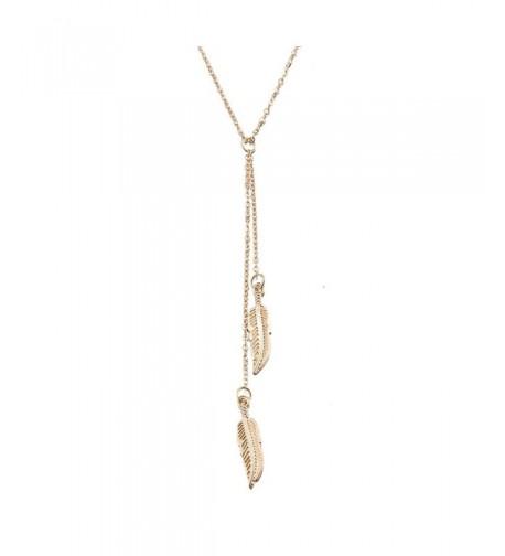 Alipeia Feather Pendant Silver Necklace
