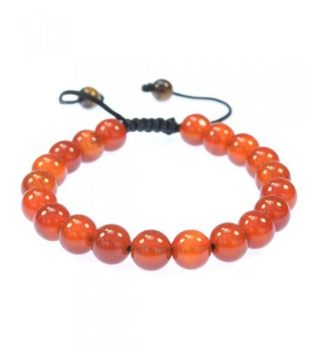 Purple Whale Orange Gemstone Bracelet