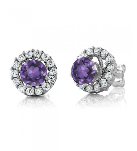 Amethyst Sterling Silver Earrings Jackets