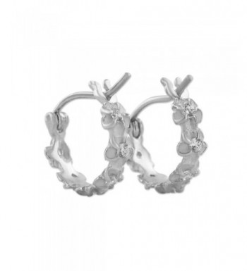 Sterling Silver Tiny Plumeria Earrings
