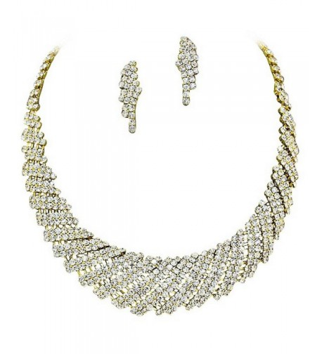 Vintage Sparkly Rhinestone Necklace Earring