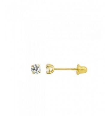Yellow Zirconia Double Basket Earrings