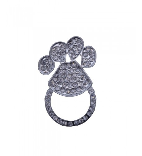 Eyeglass Holder Brooch Print Rhinestones
