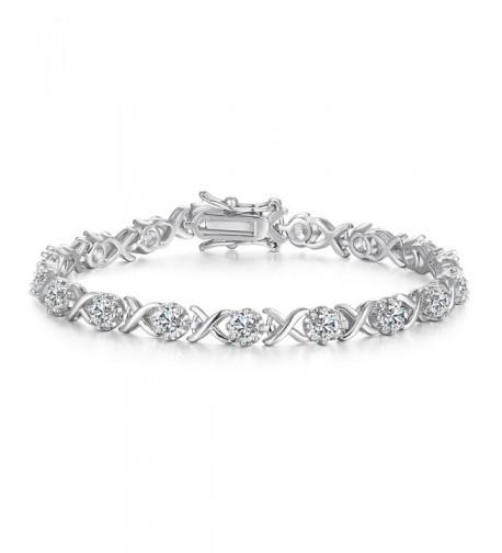 Vibrille Infinity Zirconia Bracelet Sterling