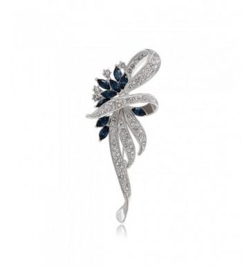 Kemstone Sapphire Crystal Flower Jewelry