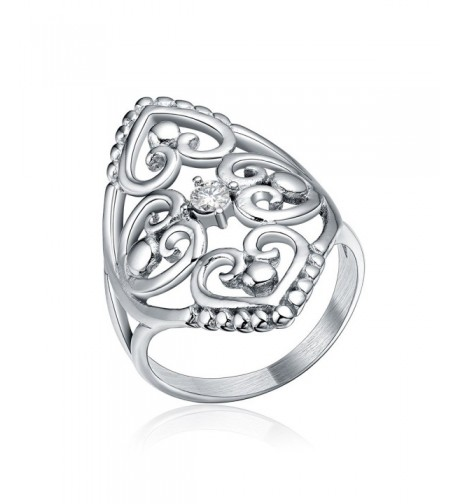 Jewelry Silver Stainless Hollow Womens