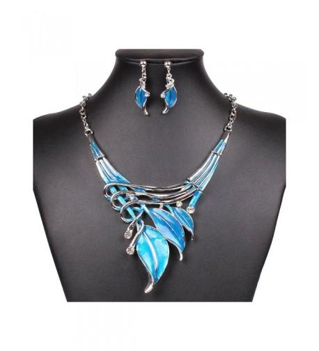 SDLM Silver Tone Elegant Necklace Earring