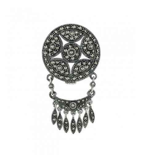 Marcasite Sterling Silver Chandalier Pendant