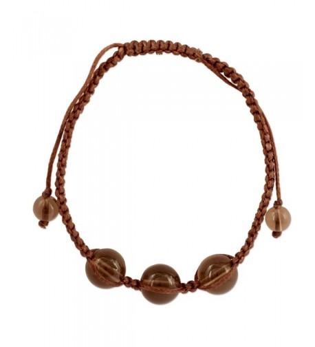 NOVICA Quartz Shambhala Bracelet Enduring