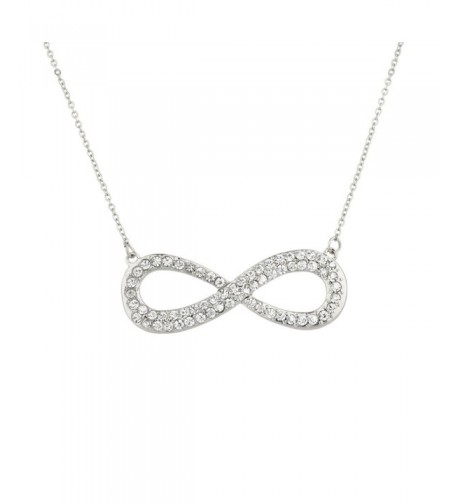 Lux Accessories Crystal Infinity Necklace