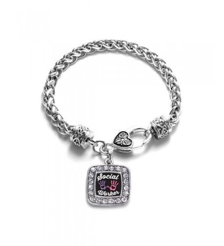 Social Classic Silver Crystal Bracelet