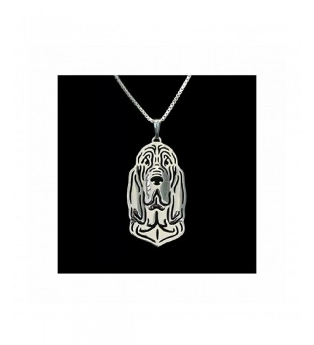 MMBD 0 Bloodhound Necklace Silver Tone