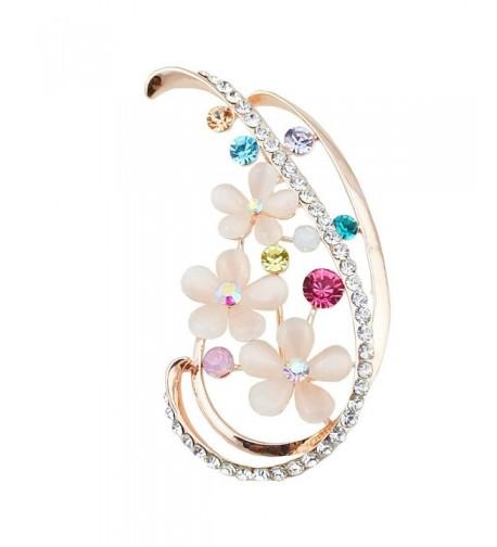 ALBEST Jewelry Womens Diamond Brooches